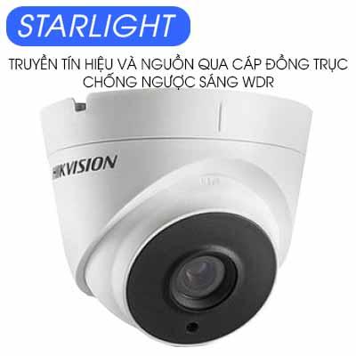 CAMERA DOME HDTVI 2MP STARLIGHT HIKVISION DS-2CC52D9T-IT3E