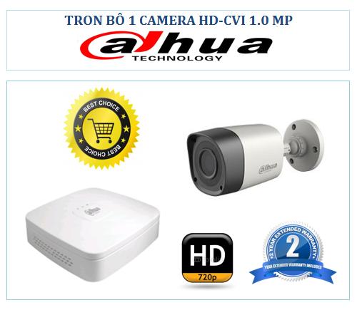 Trọn bộ 1 Camera Dahua HDCVI 720P