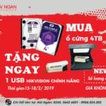 KHUYẾN MẠI WD- HIKVISION: MUA Ổ CỨNG 4TB TẶNG 1 USB HIKVISION