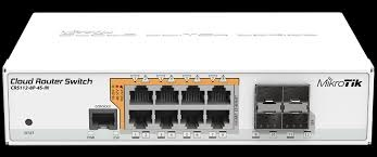 Switch Mikrotik CRS112-8P-4S-IN
