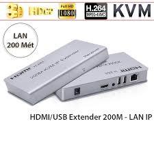 Bộ kéo dài HDMI qua lan KVM 150M hỗ trợ độ phân giải 4K