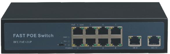 Switch mạng 8 cổng POE S1200P-8F-2F