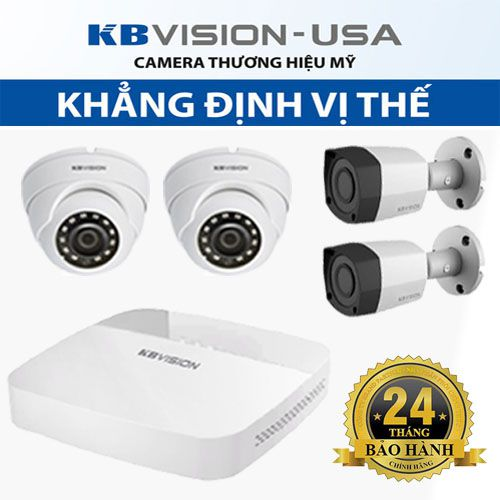Bộ KIT 4 camera IP 2mp KBvision KIT 4 giá tốt