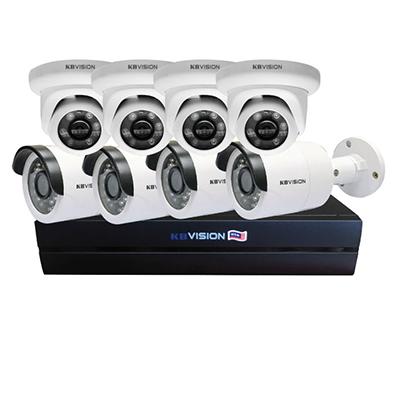 Bộ KIT 8 camera IP 2mp KBvision KIT 8 giá tốt