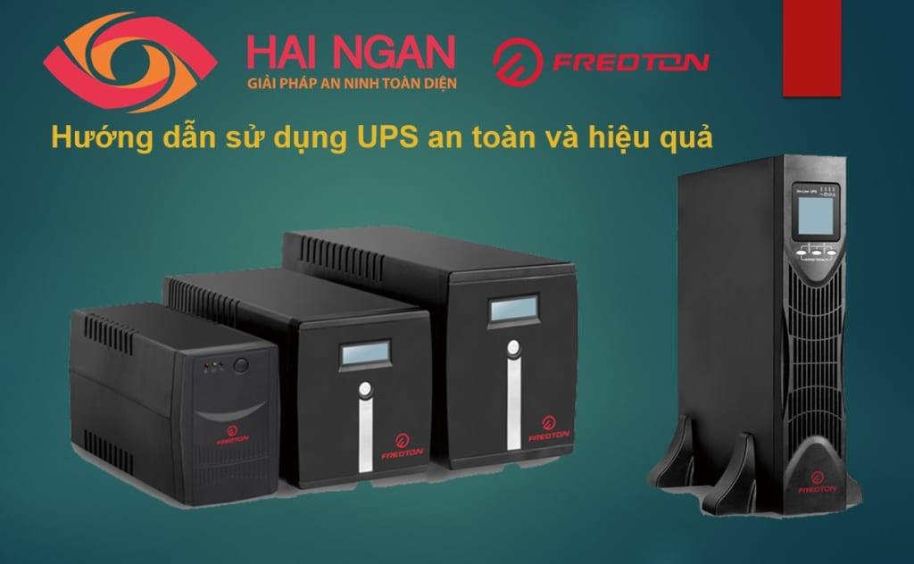 Hướng dẫn sử dụng bộ lưu điện UPS an toàn và hiệu quả.