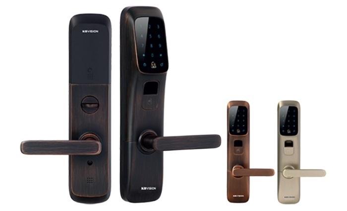 Khóa cửa tích hợp vân tay KBvision màu đen KB-SL02FK