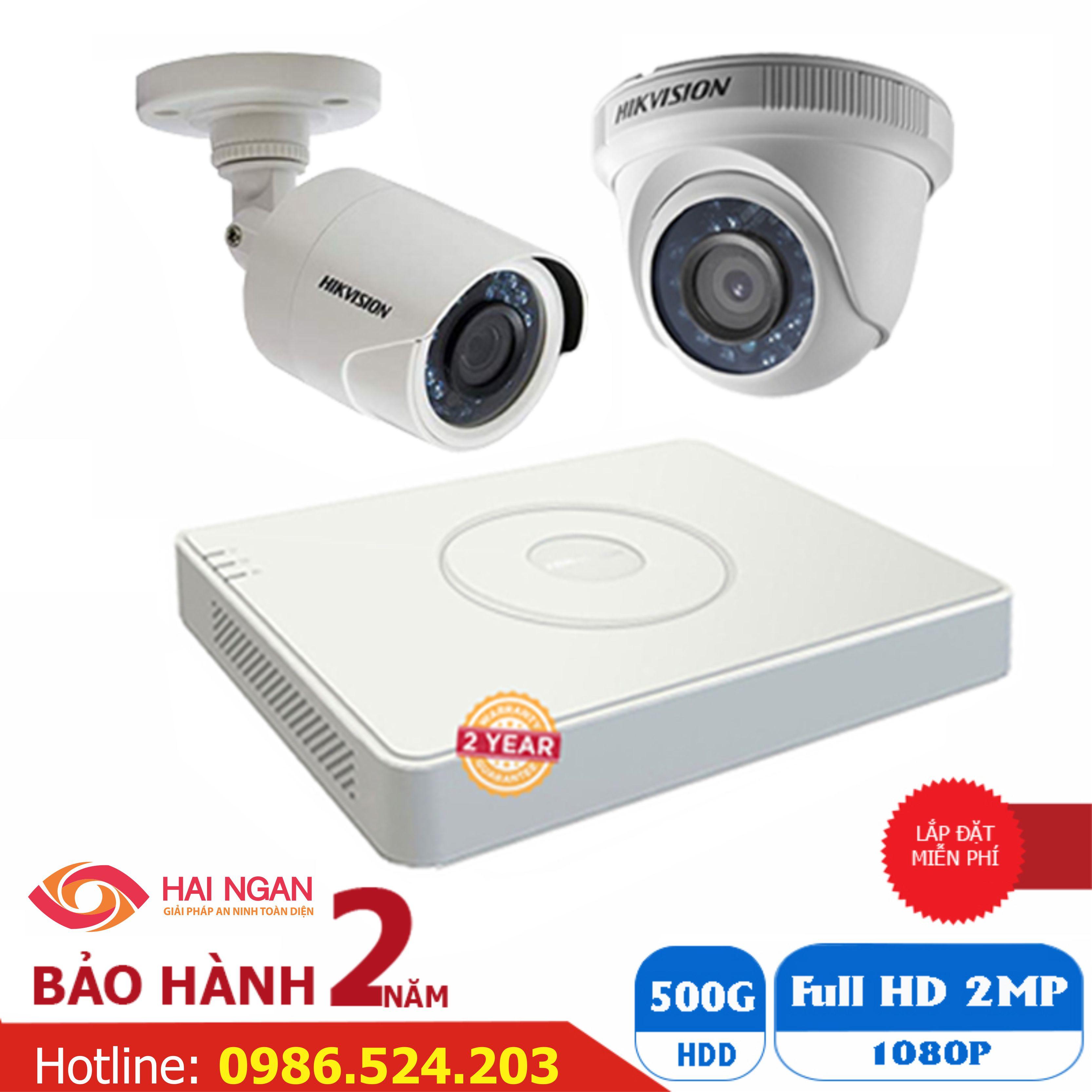 Lắp Đặt Trọn Bộ 02 Camera Giám Sát Hikvision Full HD HN-2CE562D0T