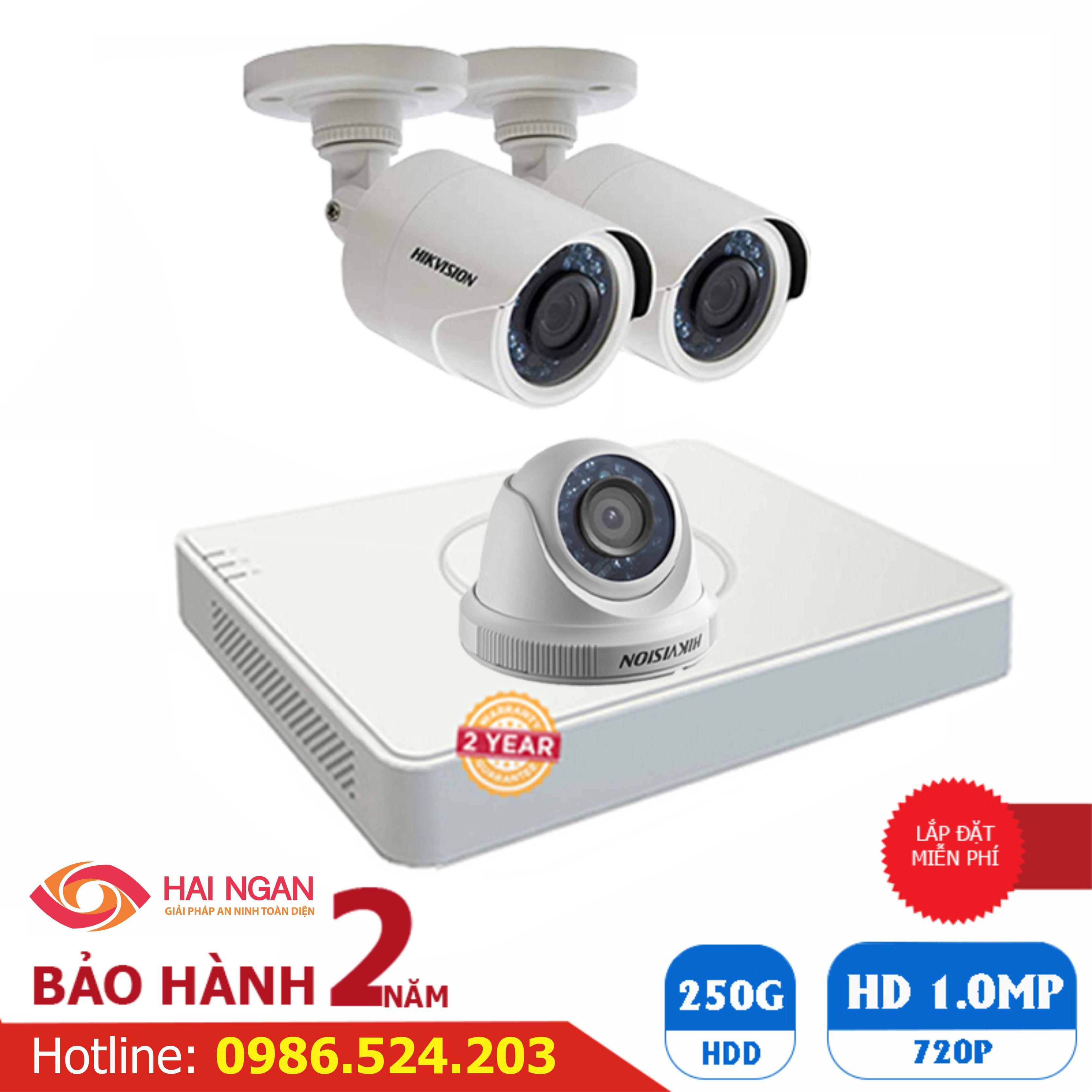 Lắp Đặt Trọn Bộ 03 Camera Giám Sát Hikvision HD HN-3CE563C0T
