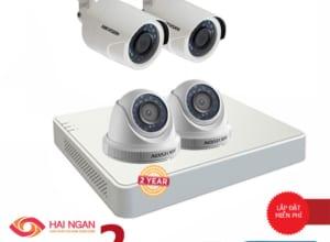 Lắp Đặt Trọn Bộ 04 Camera Giám Sát Hikvision Full HD HN-4CE564D0T