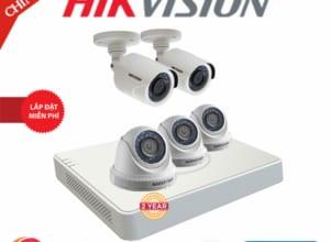 Lắp Đặt Trọn Bộ 05 Camera Giám Sát Hikvision Full HD HN-5CE565D0T