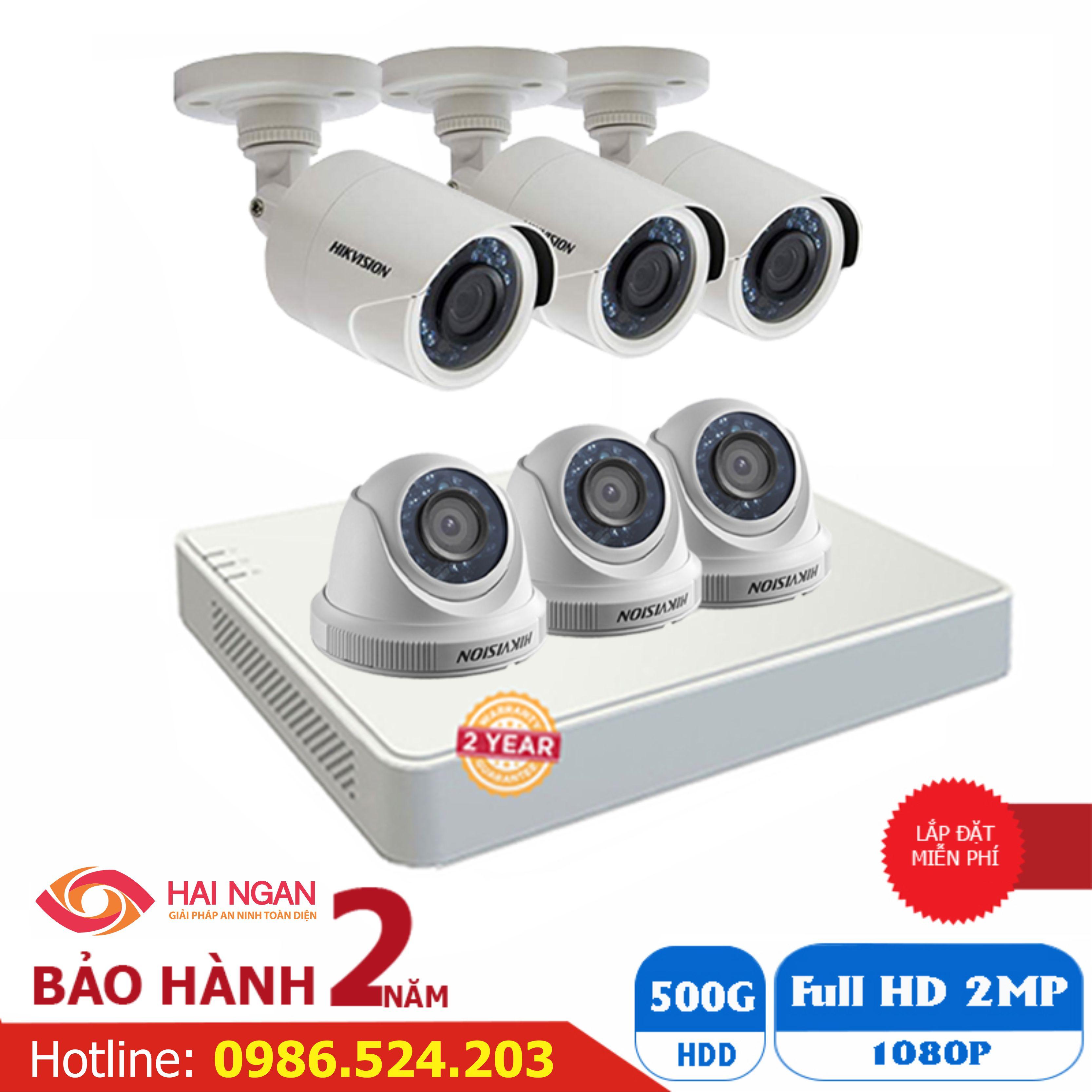 Lắp Đặt Trọn Bộ 06 Camera Giám Sát Hikvision Full HD HN-6CE566D0T