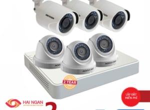 Lắp Đặt Trọn Bộ 06 Camera Giám Sát Hikvision HD HN-6CE566C0T