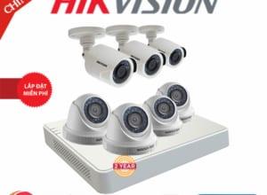 Lắp Đặt Trọn Bộ 7 Camera Giám Sát Hikvision Full HD HN-7CE567D0T