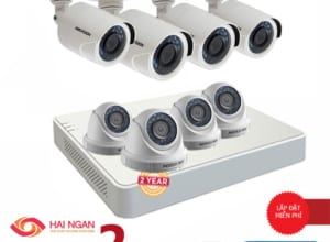 Lắp Đặt Trọn Bộ 08 Camera Giám Sát Hikvision HD HN-8CE568C0T